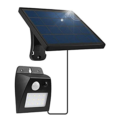 Solar Light Outdoor, FENGTUOW 12LED 350LM Bright Solar Led Flood Light IP65 Waterproof Motion Sensor Security Lights with 9.8FT Power Cord for Patio, Deck, Yard, Garden, Garage