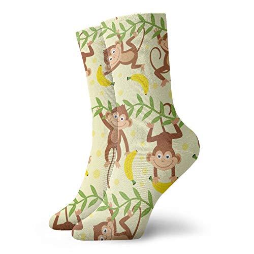 LLeaf Calcetines deportivos transpirables cómodos divertidos mono colgando calcetines casuales calcetines...