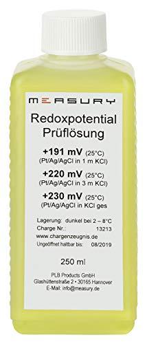 Measury Redox Kalibrierlösung +220mV 250ml Pufferlösung Eichlösung Kalibrierflüssigkeit