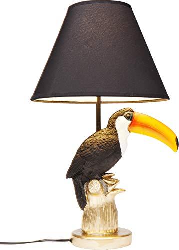 Kare Design Tischleuchte Tukan, Tischlampe in Tierform, Vogel Tischlampe Tukan, (H/B/T) 50x27,5x27,5cm