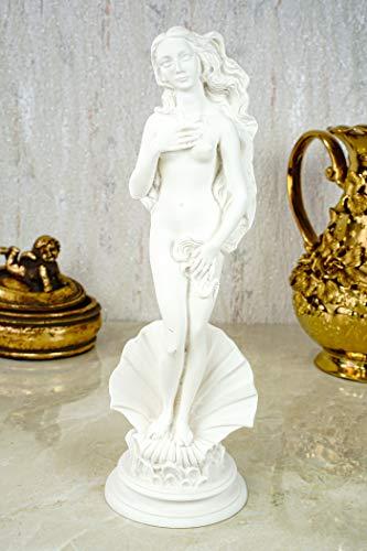 Alabaster Aphrodite nach Boticcelli Figur Skulptur 25 cm weiß Göttin der Liebe