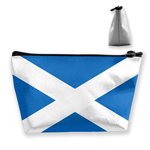 Trapezoid Makeup Pouch Storage Holder Ecosse Flag Womens Travel Case Cosmetic Makeup Pouch