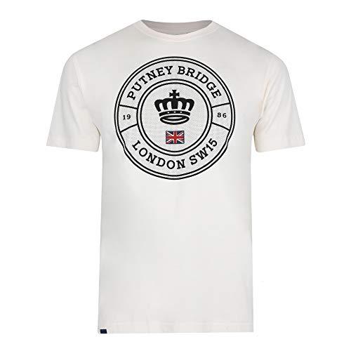 Putney Bridge Fulham Camiseta, Blanco (Vintage White Vwh), XXL para Hombre
