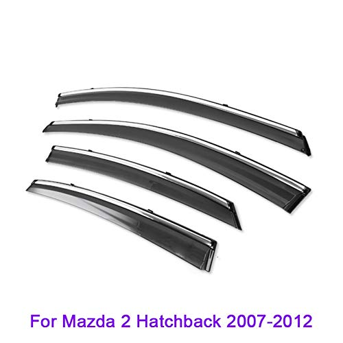 SYJY-SHOP Car Styling Windabweiser/Regen Schild/Windschutz nur for Mazda / 2/3/6/8 / CX-5 / CX-7 / Atenza/Axela Fenster Deflektoren Autofenster Visier (Farbe : for Mazda2 07-12)
