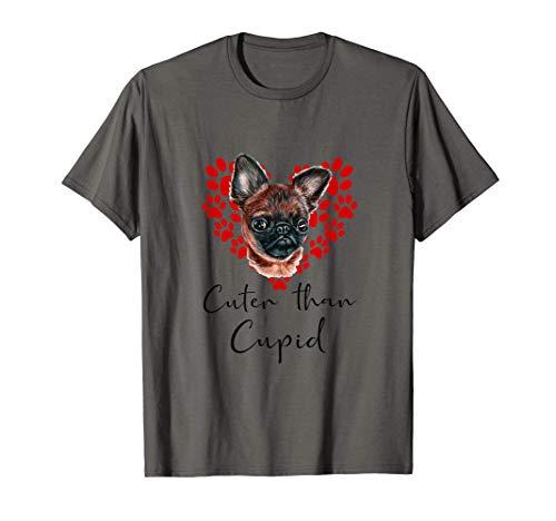 Grifón De Bruselas Cuter Than Cupip Perro Día San Valentín Camiseta