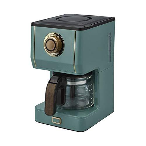 LLKK Máquina de café de filtro automática americana, cafetera de goteo pequeña casera retro, nueva máquina de café de goteo de 650 ml