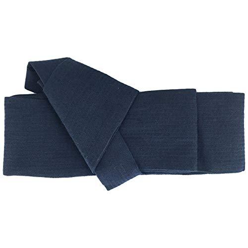 ZooBoo Japanese Kimono Obi Belt - Mens Traditional Vintage Waist Judo Wrap Waistband Pattern (Navy)