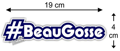 Sticker Hashtag #BeauGosse - Autocollant Humour Cadeau