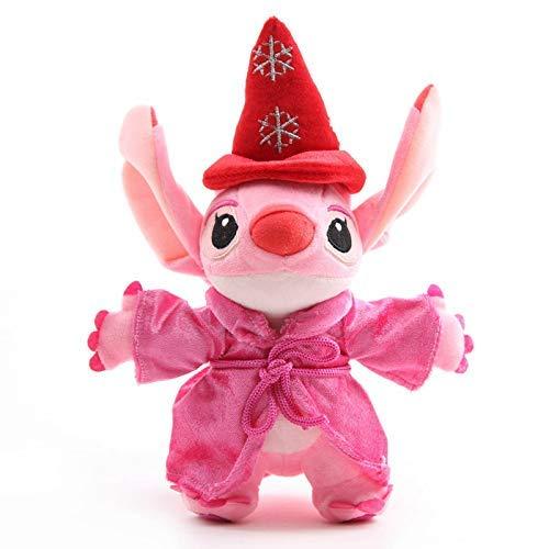 Dirgee 25 cm Anime Magier Angel in Rosa Mantel Cartoon Stich Weiche Gefüllte Puppen Baby Kinder Geburtstagsgeschenk