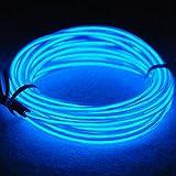 3m/9ft neón EL Wire alambre con brillante electroluminiscente pila caja para noche, partido, boda, coche, empresa(Azul)