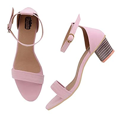 TAYDOL Women's Cute Fancy Block Heel Flexible Sandals