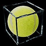 Baseball Display Case Transparent Acrylic Baseball Box Baseball Holder Stand Display UV Protection Plexiglass Baseball Display Box for Baseball Action Figures Toys Collectibles