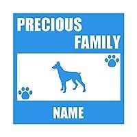 ForzaGroup 全犬種 全猫種対応 ドーベルマン1 (137-61) 犬 イヌ 車 ステッカー 名前入れ