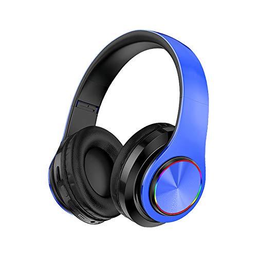 Bluetooth Kopfhörer Over Ear, GACO Noise Cancelling Kopfhörer Kabellose Hi-Fi Stereo Headset Musik Stereo Headphones Sound Klinke Earphones mit Eingebautem Mikrofon für iPhone, Andorid & PC (Blue)