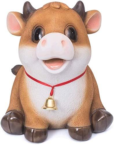 XHAEJ 2021 New Money Banks Linda Becerro Piggy Bank, Adultos Piggy Bank, Bottom es deseable, para los Regalos de cumpleaños, niñas, no Necesidad de Romper el Dinero de la Caja de Dinero