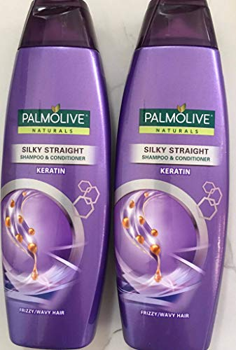 Palmolive Naturals Shampoo and Conditioner Silky Straight 180ml (2 pack) Purple