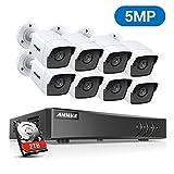 ANNKE 8CH 5MP Überwachungskamera Set mit 8X 5MP Wetterfest IP67 IP Kamera und 8CH 2TB HDD H.265+ DVR HDMI & VGA Ausgang,30M EXIR Nachtsicht,Fernzugriff,Bewegungsmelder