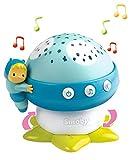 Smoby 110118 Cotoons Gute-Nacht-Pilz mit Musik, Spielzeug, Nachtlicht Baby, Babylampe, Blau -