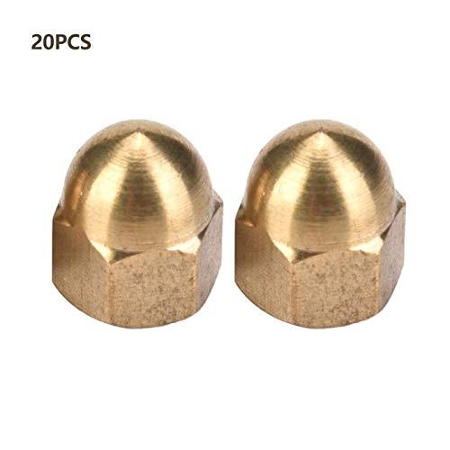 DULALA Mutter Messing Eichelmutter Kit Dome Head Cap Sechskantmuttern Set Fahrzeugbefestigungen Fix Reifen (M3-M12)