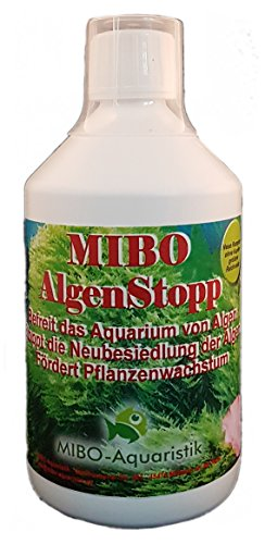MIBO Algenstopp Algenvernichter 500 ml Flasche ausreichend für 5.000 L Neue Rezeptur ohne Kupfer größere Reichweite!!