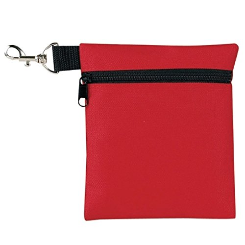 BuyAgain Golf Tee Pouch, 5.62 X 6.87 Inch Professional Zipper Golf Tee/Ball Pouch Bag with Metal Lobster Claw Clip.