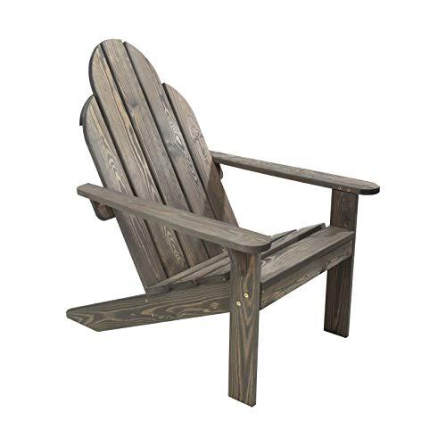 idooka Adirondack Chair Sun Lounger - Wooden Garden Furniture Reclining Garden Chair - Conservatory/Decking/Balcony/Patio Furniture Deck Chair - Outdoor Furniture Recliner Armchair Garden Chairs
