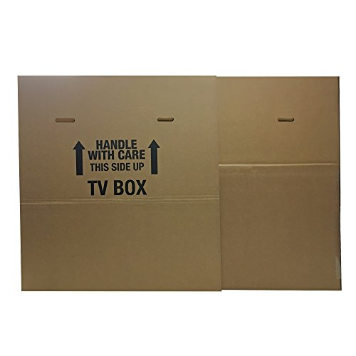 UBOXES TV Moving Box Fits up to 70' Plasma, LCD, or LED TV. Box Size 72x8x42