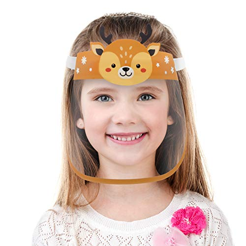 CUTE SMALL KIDS SIZE FACE COVER MASK WITH CLEAR VISOR ELASTIC BAND &CONFORT SPONGE ANTI SUN UV/DUST/SPLASH/SPITTING REUSABLE TRANSPARENT FOR CHILDREN,GIRLS,BOYS,TODDLERS ,KID,OUTDOOR SCHOOL ACTIVITIES
