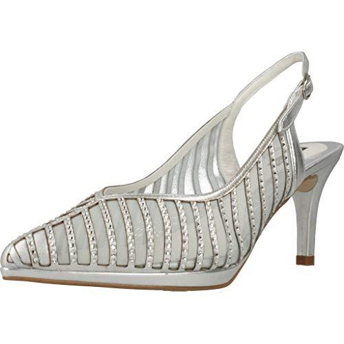Argenta Zapatos Tacon 33016A Mujer Plateado 39 EU