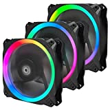 Antec RGB Fans, 120mm Case Fan, RGB High Performance PC Fan, 4-Pin RGB, Spark Series, 3 Packs