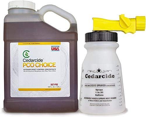 Cedarcide PCO Choice (Quart) Natural Cedar Oil Bug Killing Concentrate Yard Spray | Safe Pest Control Spray | Kills and Repels Mosquitoes Fleas Ticks and Mites