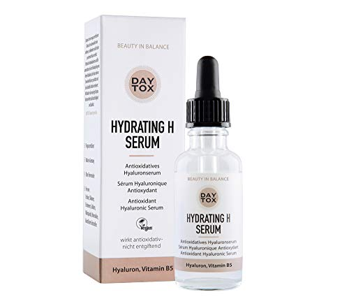 DAYTOX - Hydrating H Serum - Hochdosiertes Hyaluronserum mit Sofort-Effekt - Vegan, Ohne Silikone, Made in Germany - 1 x 30 ml