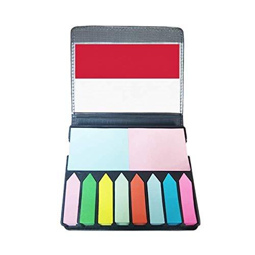 Indonesië nationale vlag Azië land zelfklevende notitie kleur pagina markeerdoos