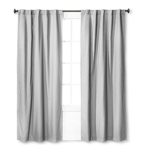 "Pillowfort, Twill Light-Blocking Curtain Panel, Solid Gray, 42"" x 84"""