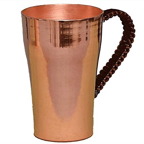 Nirmon 1 Pieza 400 ML Monedero Hecho una Mano con Asa de Cobre Retro Taza de Agua de Té Taza de Cerveza Taza de Café de Viaje