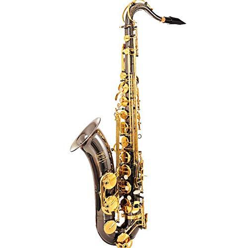 Alt Saxofoon zwart nikkelgoud gelakt Bb platte Sax knop natuurlijke witte schelp, de knop speelt het type houtblaasinstrument.