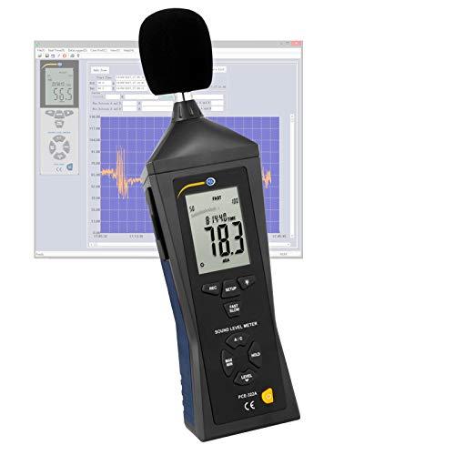 Sonómetro digital medidor portátil para medir el nivel sonido con memoria / Rango: 30 ... 130 dB / PCE Instruments PCE-322A
