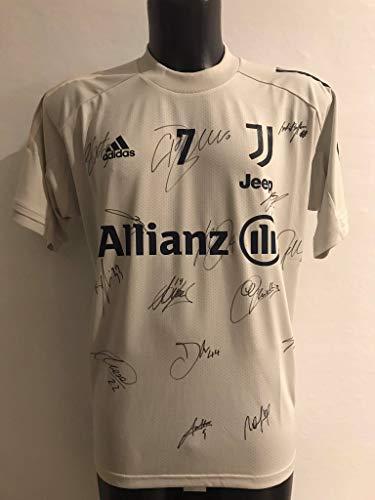 """maglia allenamento juventus MAESTRI DEL CALCIO Maglia Allenamento Beige """"Ronaldo 7"""" Autografata Firmata Juventu Juv 2020/2021"""