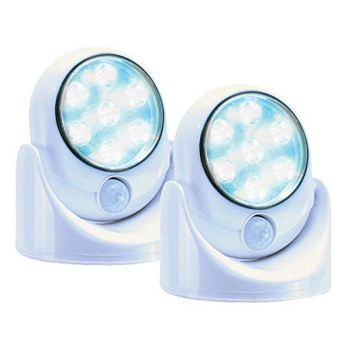 Lot de 2 Lampes 7 LEDS sans fil avec détecteur de mouvement – Orientable à 360 degrés
