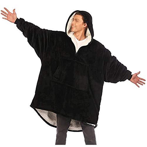 WANGLX Manta Usable Sherpa De Microfibra De Gran Tamaño Sudadera Acogedora Sudadera con Capucha Manta Gigante Talla única para Todos Los Adultos Niños Hombres Mujeres