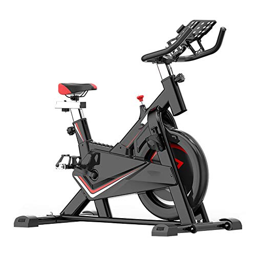 Cyclette da Allenamento, Home Trainer Cyclette da Casa Ellittica Macchine Bici da Spinning per Training Aerobico Spin Bike,con la Ruota Mobile più Metodi di Regolazione, Carico Massimo 150 kg