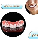 Blanqueamiento Snap on Smile Top Prótesis de Dientes postizos Smile Comfort Fit Cuidado bucal, Dientes cosméticos