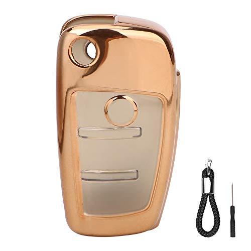 UDBOK Schlüsselbund Car Key CaseSchutz Key Shell -Abdeckung für Audi Q3 A4L A6L Q5 Q7 A1 A3 TPU Car Styling Flip mit demSchlüsselring Auto -Zubehör-in, Gold