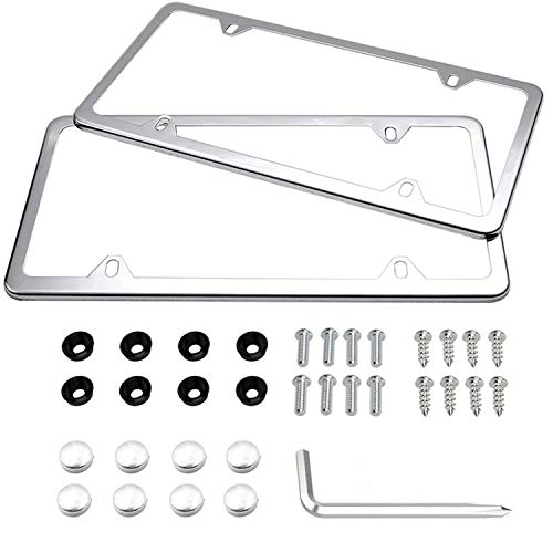 Best 4 hole license plate frames review 2021 - Top Pick