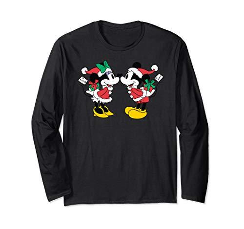 Disney Christmas Mickey and Minnie Kiss Long Sleeve T-shirt
