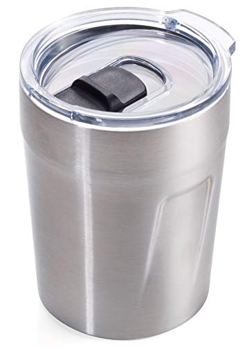 TROIKA Original ESPRESSO DOPPIO – CUP65/ST – Thermobecher (Espresso, Kaffee, Tee) – Isolierbecher, Travel Mug – Fassungsvermögen: 160 ml (5,4 oz) – Kunststoffdeckel (Verschlussschieber, schwappsicher)