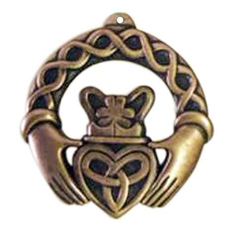 Royal Tara Bronze Plated Hanging Ornament, Claddagh Ring Design