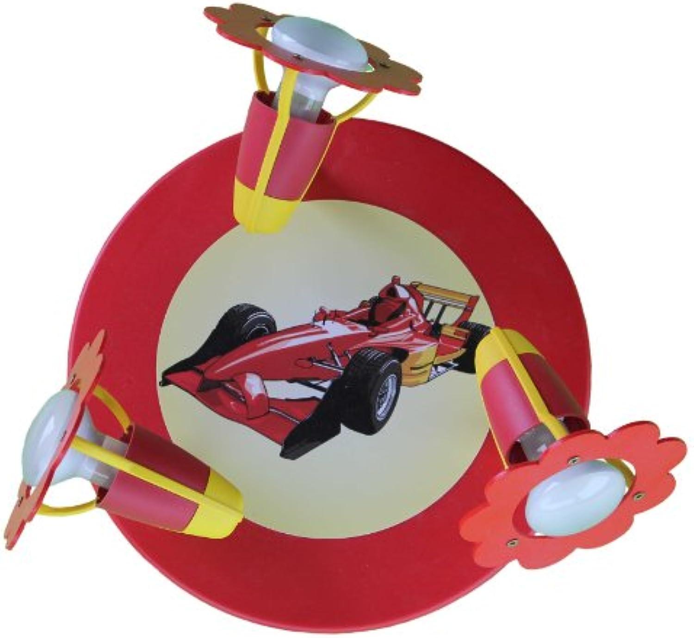 Blüte Formel1 rot 3er Deckenlampe elobra 127193