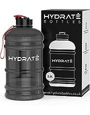 HYDRATE XL Jug 2.2 Litre Water Bottle - BPA Free, Flip Cap, Ideal for Gym - Colour Options