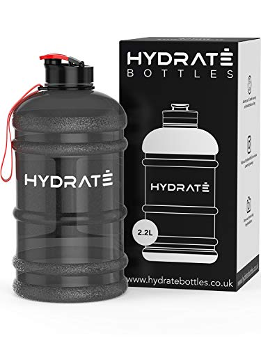 HYDRATE XL Jug 2.2 Litre Water Bottle - BPA Free, Flip Cap, Ideal for Gym -...